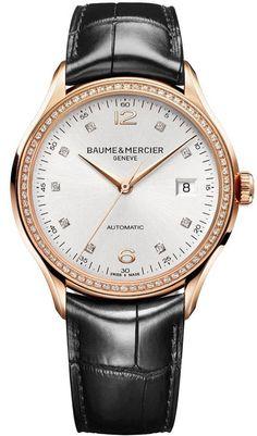 Baume et Mercier Watch Clifton #add-content #bezel-diamond #bracelet-strap-alligator #brand-baume-et-mercier #case-material-rose-gold #case-width-38mm #date-yes #delivery-timescale-call-us #dial-colour-silver #gender-mens #luxury #movement-automatic #official-stockist-for-baume-et-mercier-watches #packaging-baume-et-mercier-watch-packaging #style-dress #subcat-clifton #supplier-model-no-m0a10194 #warranty-baume-et-mercier-official-2-year-guarantee #water-resistant-50m