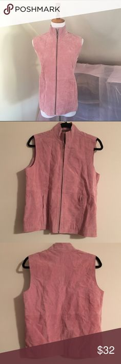 RuffHewn NWT Pink Suede Vest This is the perfect pink suede vest. The color is blush rose and it is a nice suede. Bust is 19 inches across and inseam is 14 inches. Let me know if you have any questions! Offers welcome and bundles encouraged! RuffHewn Jackets & Coats Vests
