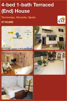4-bed 1-bath Terraced (End) House in Torrevieja, Alicante, Spain ►€119,000 #PropertyForSaleInSpain