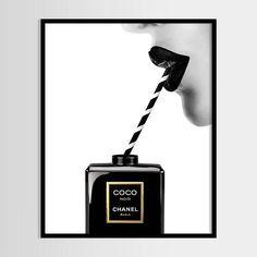 Chanel Print Print Fashion Street Art Chanel Minimalist Digital Art Perfume P Chanel Logo, Art Chanel, Chanel Wall Art, Chanel Print, Chanel Perfume, Chanel Poster, Fashion Prints, Fashion Art, Chanel Fashion