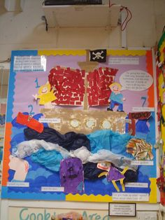 Pirates Display, classroom display, class display, Pirates, pirate, jolly roger, treasure, ship, Early Years (EYFS), KS1 & KS2 Primary Resources
