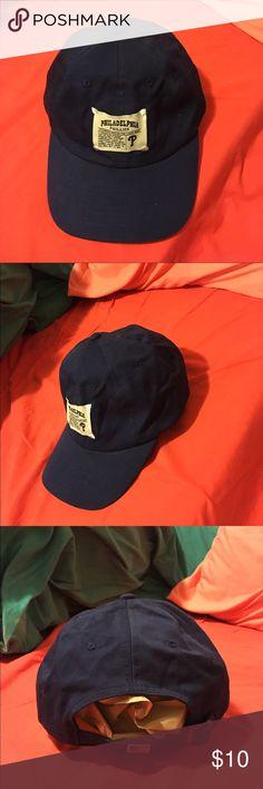 8c5f590f09678 Old School Philadelphia Phillies Baseball Ball Cap Old School Philadelphia  Phillies Baseball Ball Cap - Navy Blue and White - Adjustable American  Needle ...