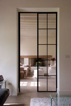 Guides to Choosing A Glass Door Design That'll Fit Your House - haus - Mobel Door Design, House Design, Steel Doors And Windows, Metal Doors, Interior Architecture, Interior Design, Modern Door, Entrance Doors, Patio Doors