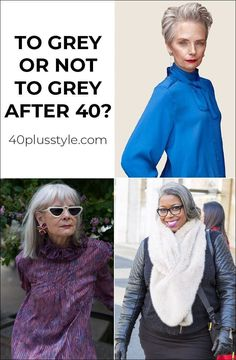 To grey or not grey hair after 40 | 40plusstyle.com Grey Hair Hacks, Going Gray, Hair Today, Beauty Hacks, Beauty Tips, Your Hair, Cool Hairstyles, That Look, Hair Styles
