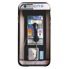 Vintage city pay phone iPhone 6 case. Awesome.