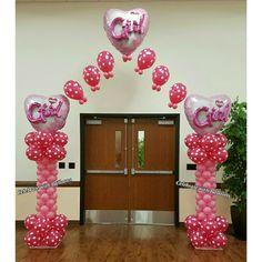 Baby Shower Balloons, Balloon Arch, Arches, Home Decor, Homemade Home Decor, Interior Design, Home Interiors, Decoration Home, Home Decoration