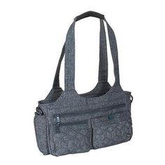 Lug Streetcar Short Tote $79.99 Shape Meaning, Travel Tote, Luggage Bags, Sling Backpack, Heather Grey, Purses, Zip, Accessories, Gray