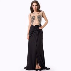 Sleeveless Hollow Out Women Plus Size Clothing Lace Embroidered Mesh Sexy  Mmaxi Dress Backless Applique Maxi d1e6a12aba61
