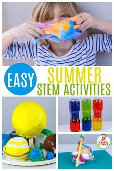 Try these summer STEM activities at home! Make learning fun through the summer with these fun summer STEAM projects. Kindergarten Science Experiments, Summer Preschool Activities, Kindergarten Stem, Stem Activities, Elementary Science, Challenge Ideas, Stem Challenges, Stem Projects, Help Kids