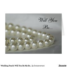 Wedding Pearls Will You Be My Bridesmaid