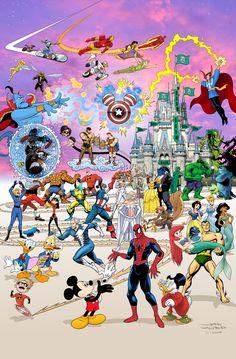 "T Campbell and John Waltrip Present...  Poster Mashup ""Epic Misney""- Disney + Marvel"