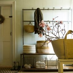 Square Wire Basket in House+Home HOME DÉCOR Utility+Storage Baskets at Terrain