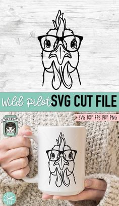Flower On Head, Flower Frame, Cute Chickens, Monogram Frame, Silhouette Cameo Projects, Animal Faces, Cricut Vinyl, Textured Background, Svg File