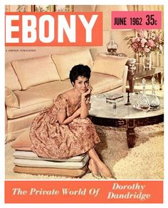 The Stylish At Home: Dorothy Dandridge in her Living Room, 1962.  50-year-old style never looked so familiar!