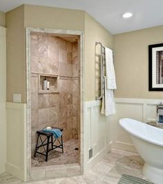 Remodel Bathroom Walk In Shower walk in showers without doors | home sweet home | pinterest