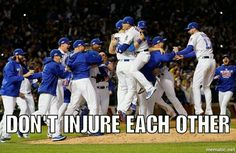Seriously! National League Champions Go Cubs Go Chicago Cubs Baseball Go Cubs Go, Chicago Cubs Baseball, National League, Cubbies, Champion, Baseball Cards, Sports, Hs Sports, Cubicles