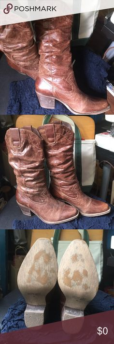 Cathy Jean Brazil leather boots. Leather boots gently used in good pre-owed condition. Cathy Jean Shoes Heeled Boots