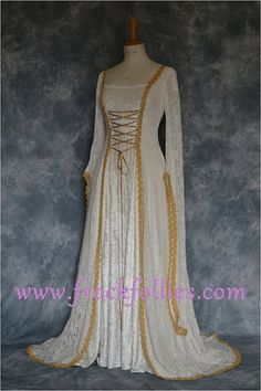 Medieval Wedding DressRenaissance GownElvish Wedding