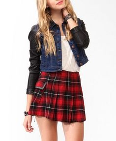 Denim & Faux Leather Jacket | FOREVER 21 - 2030188087