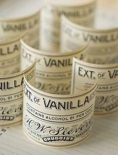 vanilla pharmacy labels