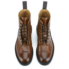Knutsford by Tricker's Men's Allan Toe Cap Leather Lace Up Boots - Tan: Image 11