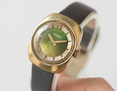 Vintage women's watch gold plated wristwatch small by SovietEra, $59.00