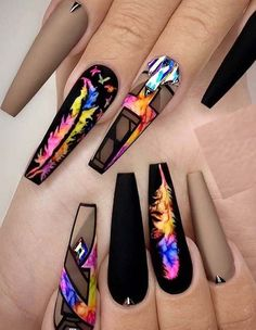 Must go through this post if you really wanna get some kind of unique and bold shapes of nail designs in year 2019 We have posted here colorful and sexy designs of colorful long nail arts with a lot of best images Ladies of various age groups may s - # Gorgeous Nails, Pretty Nails, Long Nail Art, Nagellack Design, Nail Art Images, Best Acrylic Nails, Hot Nails, Nail Swag, Cute Nail Designs