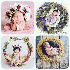 Estas imagens incríveis também são do perfil @theartofphotographystudio e depois que eu vi cada detalhe dessas guirlandas ou arranjos que acolhem o bebê feitos tão delicadamente como as coroas e adereços de cabelo pensei imediatamente no trabalho de uma amiga Botanica Ravena uma artista talentosíssima que faz buquês e arranjos florais diversos para noivas e 15 anos. Ela faria sucesso e o sonho de mães e pais com trabalhos infantis como estes da fotógrafa americana.  Para acertar nesse tipo…