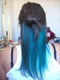 cabelos coloridos na parte da nuca - Pesquisa Google