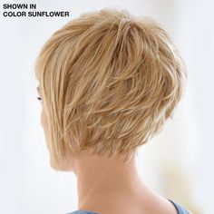 nice layers, texture, angle from front to back. but could still be a bit more dramatic to enhance the crown, and make your neck appear longer.   the front is boring - not enough shag/texture.  it's like a curtain hanging next to her face.