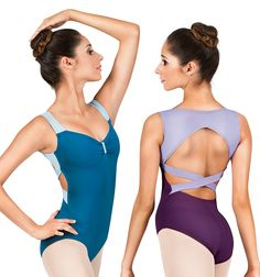 Adult Two Toned Criss Cross Back Tank Leotard - Style Number: N8826 $30.25 #discountdance