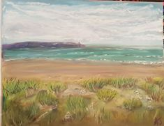 Pastel painting of rhyl seafront in north wales by AJ Barnes Different Media, Beginner Painting, North Wales, Pastel, Artist, Cake, Artists, Crayon Art, Melting Crayons