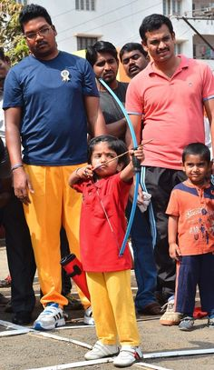 Dolly's father, Cherukuri Satyanarayana, said she had trained to be an archery champion from birth after the tragic death of her older brother, Cherukuri Lenin, who was an international archer and coach. | This 2-Year-Old Indian Girl Has Just Set A New National Record In Archery