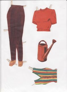 Danish Woman paper doll 4.....SET-60