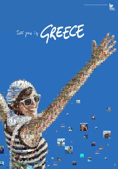 Greece - Charis Chevis did his wonders once again. We all Thank him for his wonderful work to give a boost to Greek Tourism. Bucket List Destinations, Travel Destinations, Beach Posters, In Ancient Times, Greek Life, Travel Themes, Travel And Tourism, Vintage Travel Posters, Greece Travel
