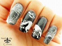 Nails by Cassis: Wolves Howling at the Moon