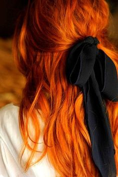 Here in Texas, we love red haired gals and big bows... ~~ Houston Foodlovers Book Club