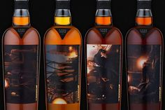 So. Cool. Annie Leibovitz Scotch bottles.
