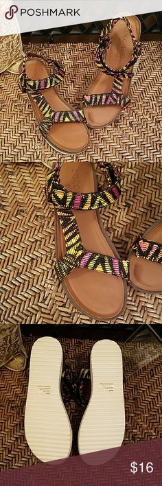 NWOT colorful sandals Super cute  sandals from Coconuts by Matisse Coconuts  by Matisse Shoes Sandals