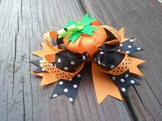 Hey, I found this really awesome Etsy listing at http://www.etsy.com/listing/158713669/pumpkin-bow-pumpkin-headband-halloween