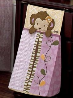 monkey :) Sewing For Kids, Baby Sewing, Handgemachtes Baby, Baby Staff, Diaper Storage, Baby Gadgets, Cute Monkey, Baby Bedding Sets, Baby Sandals