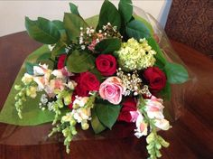 One lucky lady received this beautiful bouquet from her Valentine!   www.amaranthusonmain.com