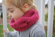 Ravelry: Children's Quick Knitted Cabled Cowl pattern by A Crafty House All Free Crochet, Knit Or Crochet, Crochet Baby, Knitting For Kids, Baby Knitting Patterns, Crochet Patterns, Knitting Projects, Hat Patterns, Easy Knitting