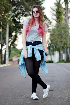 Meninices da Vida: Look Camila Rech: T-shirt Touts, Short cintura alta e All Star