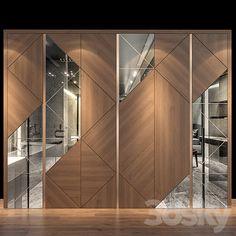 Wardrobe Door Designs, Wardrobe Design Bedroom, Bedroom Furniture Design, Bathroom Interior Design, Interior Decorating, Wall Panel Design, Wall Decor Design, Deco Design, Cladding Design