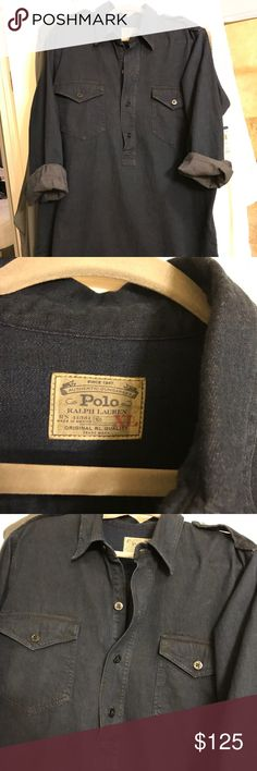 Selling this Polo Ralph Lauren Dark Denim Dress XL on Poshmark! My username is: b_froth29. #shopmycloset #poshmark #fashion #shopping #style #forsale #Polo by Ralph Lauren #Dresses & Skirts