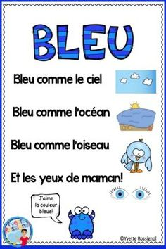 French Colors Poems in Pocket Charts French Teaching Resources, Teaching French, Teacher Resources, French Flashcards, French Worksheets, French Poems, Learning French For Kids, French Nursery, Reading Recovery