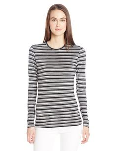 Cuddl Duds Women's Softwear with Stretch Long Sleeve Crew Neck Top * More info could be found at the image url.