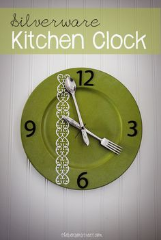 Silverware Kitchen Clock Tutorial ... you can make one for October for example use Halloween props ;) ~m