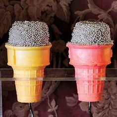 Microphone Cake Cones #Halloween | http://www.rachaelraymag.com/Recipes/rachael-ray-magazine-recipe-search/dessert-recipes/microphone-cake-cones